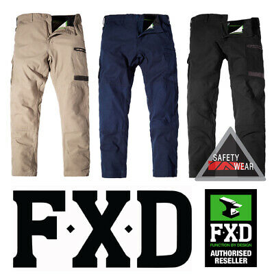 Fxd Wp-3 Wp3 Workwear Pants Trousers Regular Fit Stretch 360 Navy Khaki Black