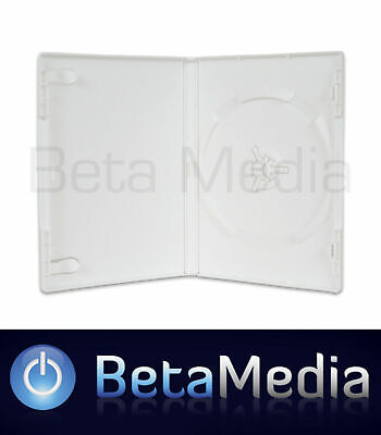 10 x Single White 14mm Quality CD / DVD Cover Cases - Great Wii Replacement Case