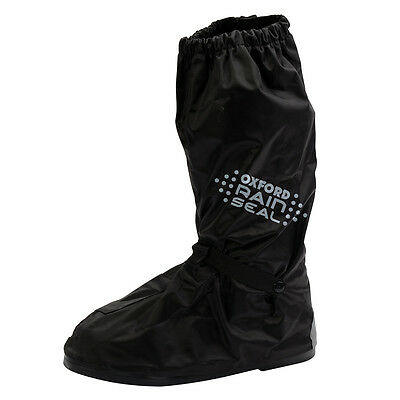 Oxford Rain Seal Black Moto Motorcycle Motorbike Non-Slip Over Boots | All Sizes