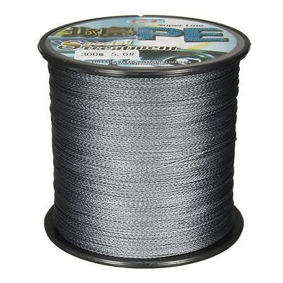 300M Grey PE Braid Fishing Line String Super Strong Resistance 3-34kg 6.6-75LB