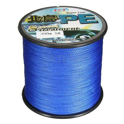 300M PE Braid See Fishing Line Rope Super Strong Resistance 3-34kg 6.6-75LB Blue