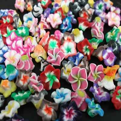 Wholesale!15mm Pretty Mixed Polymer Fimo Clay Flower Spacer Loose Beads
