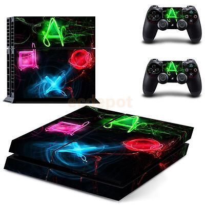 Decal Skin Sticker Set For PlayStation 4 PS4 Console Controller Buttons