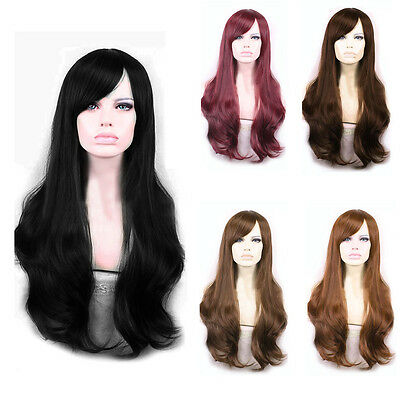 Soft Degre Sexy Fashion Long Wave Lady's Synthetic  Full Lace Cosplay Wig Gift