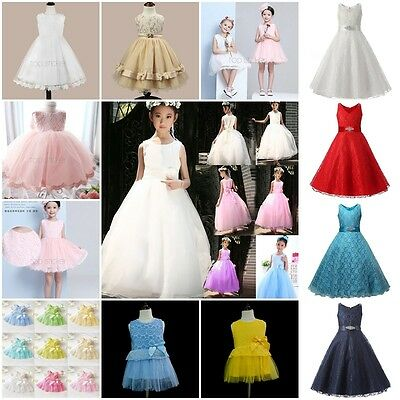 Kids Baby Girls Party/Bridesmaid/Princess/Prom Wedding Flower Communion Dress