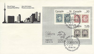 CANADA #756a CAPEX 78 SOUVENIR SHEET FIRST DAY COVER