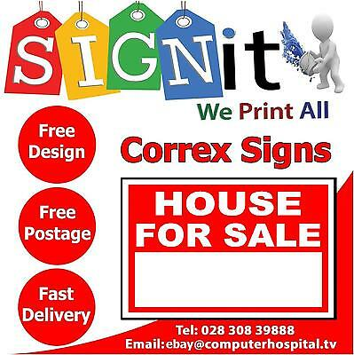 House For Sale Sign, With Space For Your Own Words. Indoor / Outdoor Sign (0020)