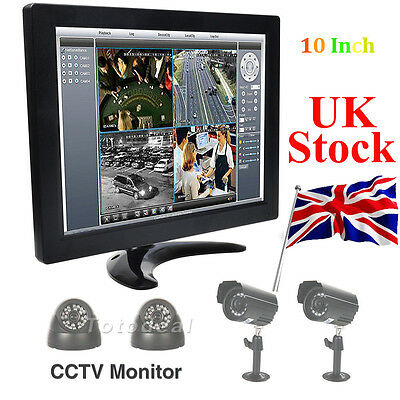 "10"" Inch TFT LCD Color Screen Monitor Screen BNC HDMI Video for TV PC UK STOCK"