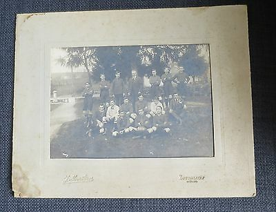 BOURGANEUF (Creuse) ancienne photographie équipe de rugby ou football USSB