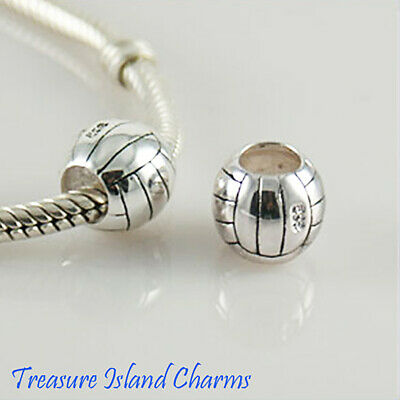 Solid .925 Sterling Silver Rope Spacer European Euro Bead Charm