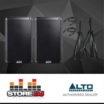 """Alto TS212 12"""" Truesonic 2200W Active PA Speaker Pack w/ Stands & Cables"""