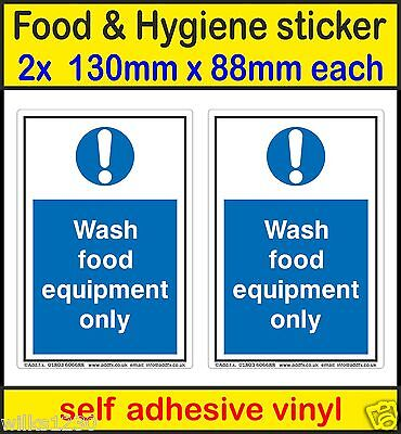 Adhesives, Sealants & Tapes Hot Sale Health And Safety Mandatory Blue Sticker Food Hygiene Wash Only Hands Sticker Always Buy Good