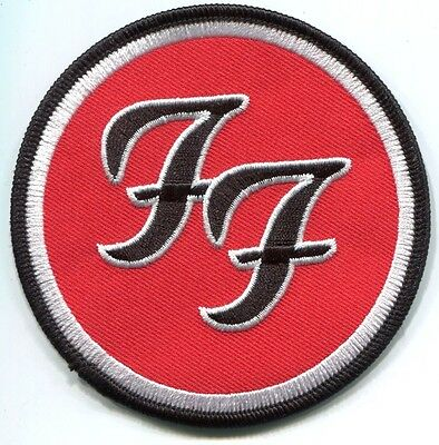 FOO FIGHTERS circle ff logo EMBROIDERED IRON-ON PATCH **FREE SHIPPING** p392