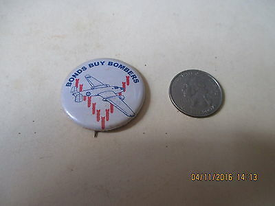 Original Wwii Homefront Rwb B-25 Mitchell North American  V For Victory Button