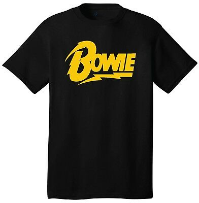 Bowie Logo David Bowie T-Shirt Ziggy Stardust Rock And Roll Bands Retro Vintage