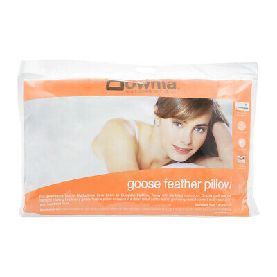 NEW Downia Goose Feather Pillow Cotton Casing