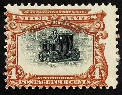 """US Sc# 296 *MINT OG H* (( """"SHIFT UP"""" VARIETY )) BEAUTY 1901 PAN-AMERICAN SERIES"""