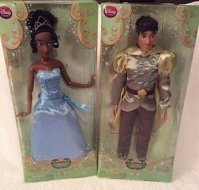 "Disney Classic Princess DOLLS Tiana /& Naveen Princess And The Frog 12/"" Dolls NIB"