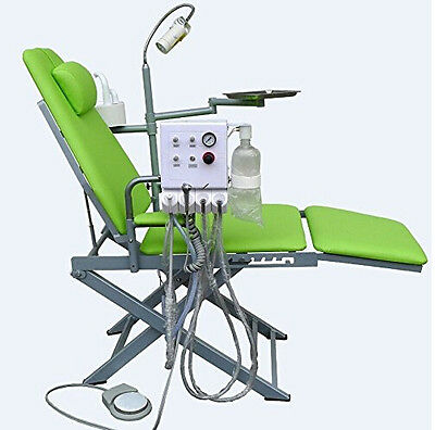 NEW Dental Portable Folding Mobile Chair with LED Surgical Light Lamp and Tray