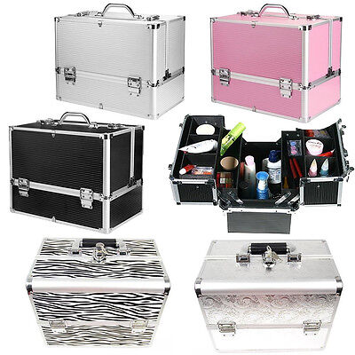 Large Space Make Up Case Vanity Box Jewellery Nail Tech Storage Professional