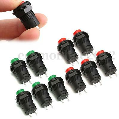 5Pcs 12V On/Off Empuje Interruptor de Botón Pulsador Conmutador Latching a Coche