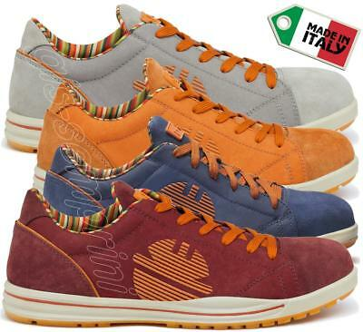 Mens Leather Work Safety Shoes Trainers Toe Cap Dike Glider Garish S1P Src 24917