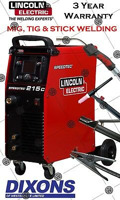 Lincoln Electric Speedtec 215C Multi Process Welder 200AMP Dual Volt 110v 240v