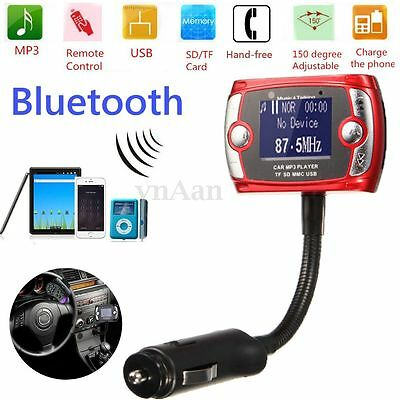 Car Kit LCD Bluetooth Voiture FM Transmetteur Chargeur MP3 USB SD Mains Libre