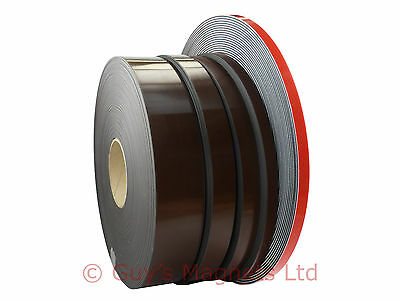 30m Premium Self Adhesive Flexible Magnetic Strip Tape 12.5mm, 20mm, 25mm, 50mm