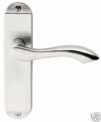 7 Sets x Stretton Designer Door Handles Lever Latch Satin Chrome