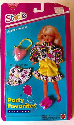 Stacie Lipgloss For You!  Party Favorites Fashions 12614 Mattel 1994 New
