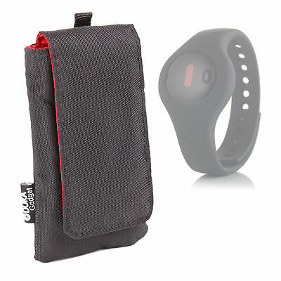 Black SmartWatch Case / Pouch For Fitbug Orb Fitness, Sleep and Activity Tracker