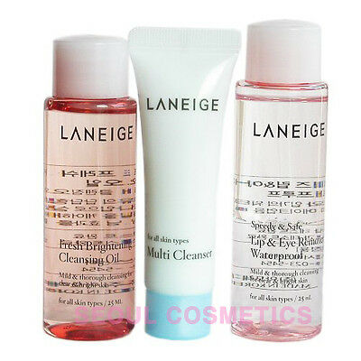 [LANEIGE] New Cleansing Trial Kit 3 Items (Makeup Remover,Oil,Multi-Cleanser)