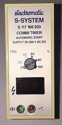 Combi Timer ELECROMATIC S 117 166 920 supply 20-265V ac/dc 0.8sec to 1h