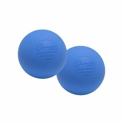 New Champion 2 Pack Official Rubber Lacrosse Balls NFHS & NCAA Approved Blue