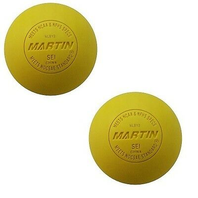 New Champion 2 Pack Official Lacrosse Balls NFHS NCAA & NOCSAE Approved Yellow