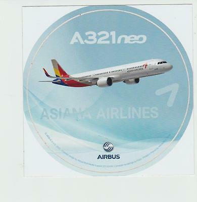 Airbus Sticker A321neo ASIANA AIRLINES , oversize