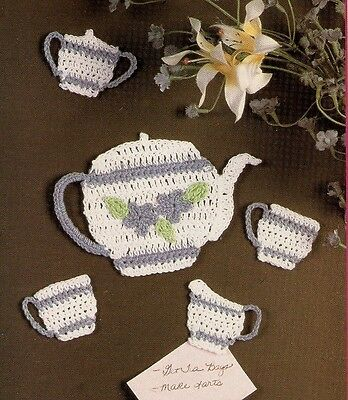 CUTE Tea for Two Fridgies//Crochet Pattern INSTRUCTIONS ONLY