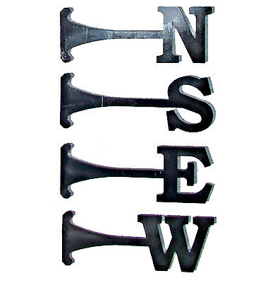 A Set of 4 Steel North South East West NEWS Weathervane Letters 80mm - Laser cut