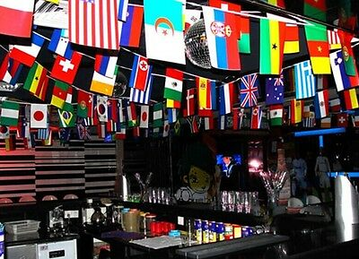 100-200 pcs hanging Banner party bar different Countries Flags decoration 25-65M