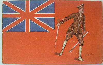Postcard-Ww1 Les Drapeaux Allies (The Allied Flags) By Sager. Artist Signed