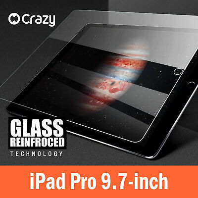 CRAZY Anti Scratch Tempered Glass Screen Protector Film For Apple iPad Pro 9.7 ""