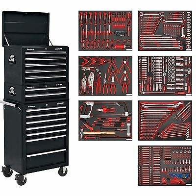 Sealey Tool Chest Combo 14 Drawer With Ball Bearing Runners 446pc Kit-TBTPCOMBO2