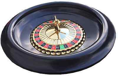 LARGE 16 INCH ROULETTE WHEEL WITH BALLS - SCRATCH / MARKED So priced to clear