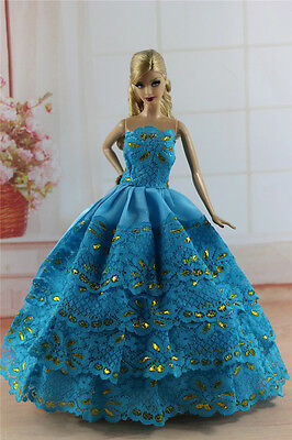 Fashion Princess Party Dress/Evening Clothes/Gown For Barbie Doll S340
