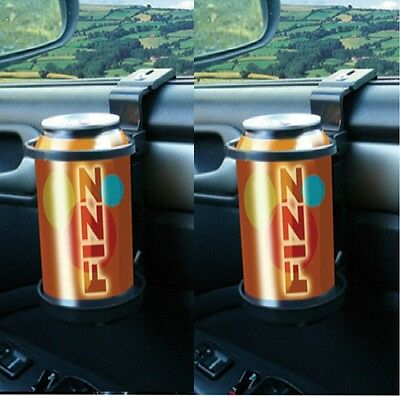 2 x Universal Car Drinking Water Bottle Can Cup Mug Holder Clip on Window Mount