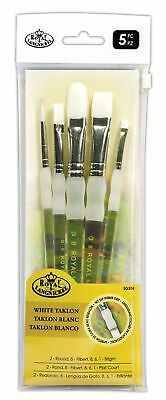 ROYAL & LANGNICKEL SOFT GRIP ARTISTS QUALITY BRUSH SET FOR ALL MEDIA-SG305-5 Pcs
