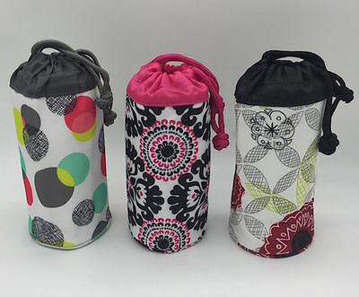 NEW Thirty one bring bottle thermal pouch Organic poppy pink pop 31 NO  carabiner 81fd25c110fc5