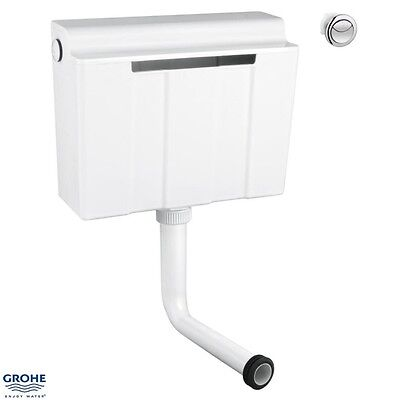 GROHE 39054 Concealed WC Cistern 6/3 ltr, Side/Back Inlet c/w Dual Push Button