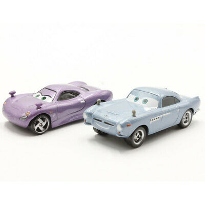 Mattel Disney Pixar Cars Finn McMissile and Holly Metal Toy Car New Loose